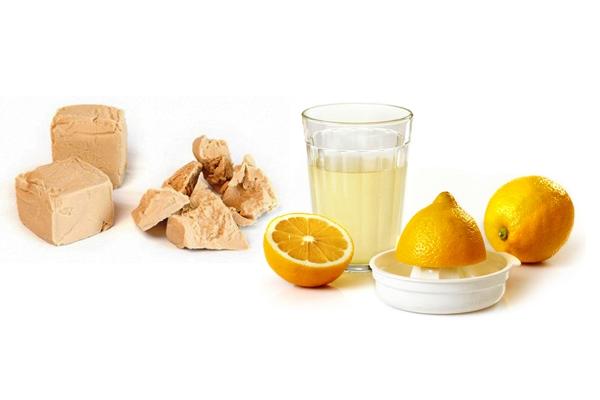 Маска дрожжевая с лимоном