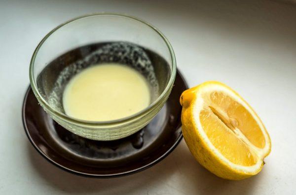 Маска из желатина и лимона