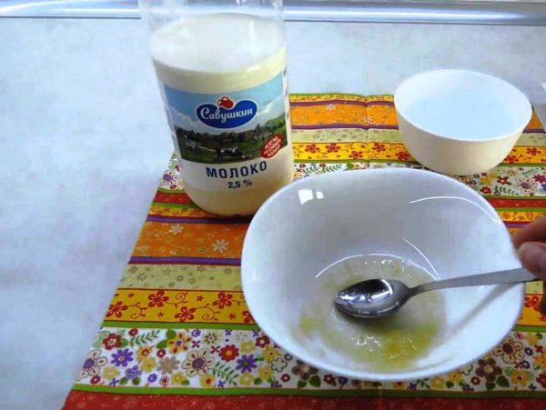 Маска из желатина на молоке