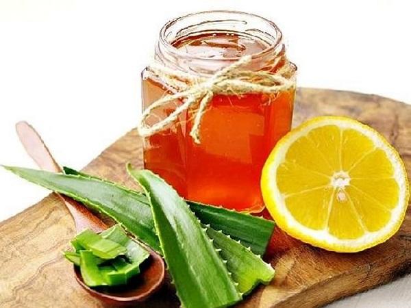 Маска жидком меду с алоэ и лимоном