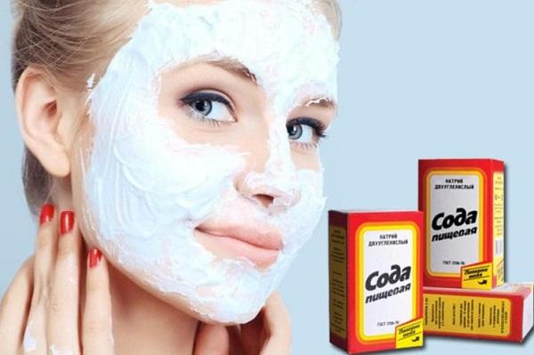 Домашняя маска из пищевой соды от прыщей на лице