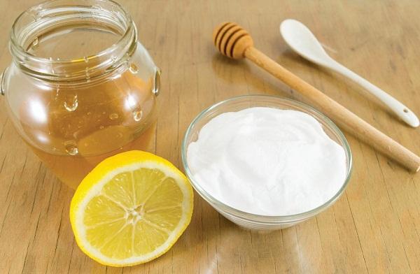 Маска с содой, лимоном, медом и корицей