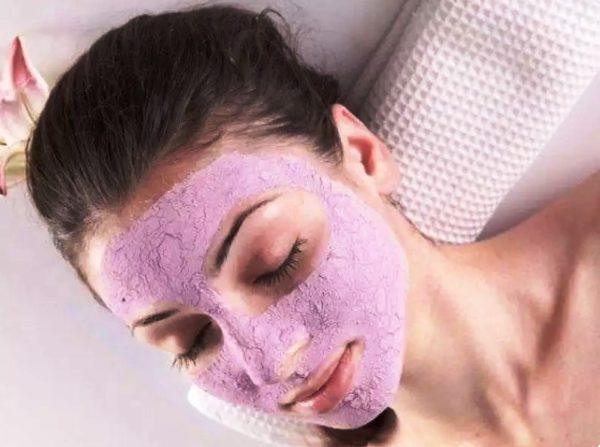 Маска из розовой глины для сухой кожи лица
