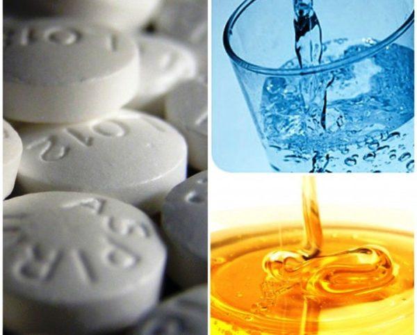 Аспириновая маска с медом и минералкой