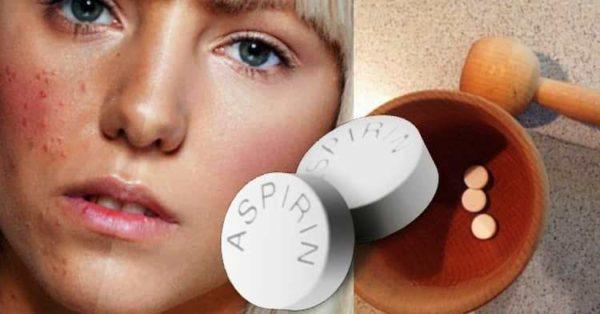 Маски из аспирина для жирной кожи