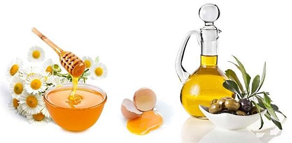 Маска на меду, желтках и оливковом масле