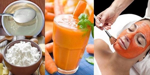 Омолаживающая маска на твороге, морковном соке и молоке