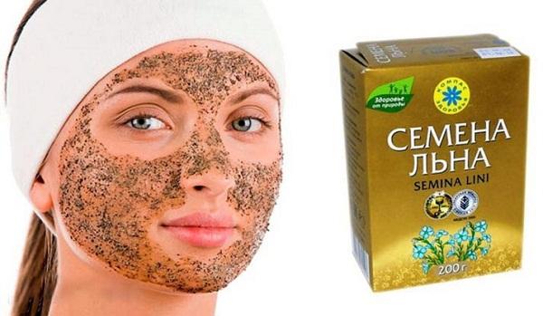 Подтягивающая маска из семени льна в домашних условиях