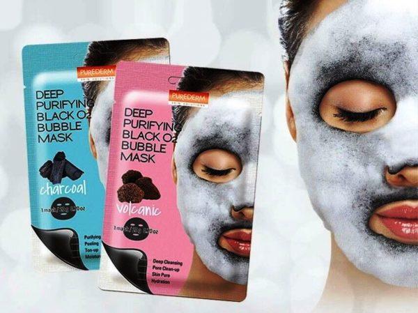 Тканевая пузырьковая маска для лица