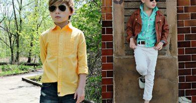 мальчики в детских рубашках