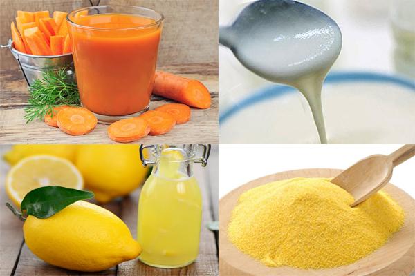 Маска с соком лимона и моркови