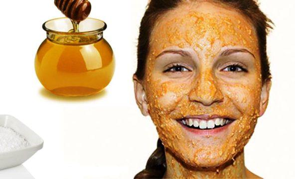 Маска из мёда и толокна