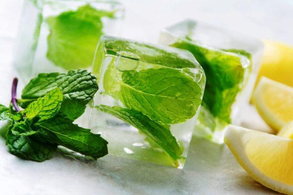 Лёд из листьев мяты