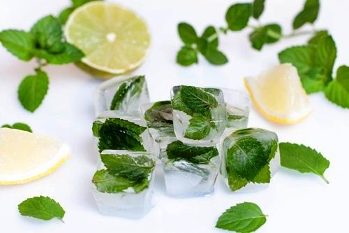 Лёд из мяты для лица