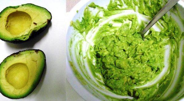 Базовая маска из авокадо