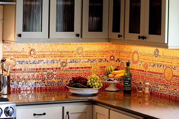 Мозаика кухонный фартук
